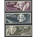 Malta 1972 Mi 454-456 Czyste **
