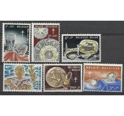 Znaczek Belgia 1960 Mi 1222-1227 Z podlepką *