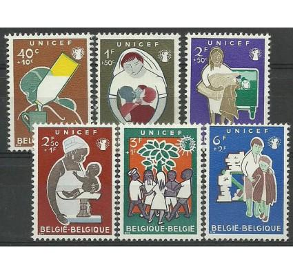 Znaczek Belgia 1960 Mi 1212-1217 Z podlepką *