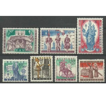 Znaczek Belgia 1958 Mi 1135-1141 Z podlepką *