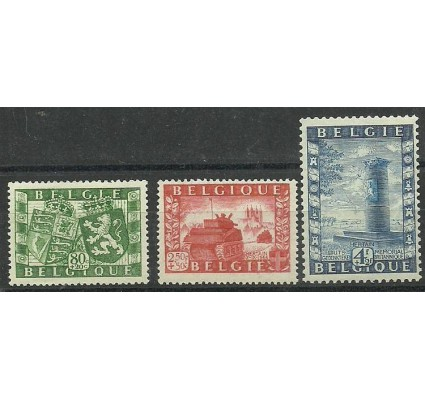 Znaczek Belgia 1950 Mi 863-865 Z podlepką *