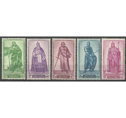 Znaczek Belgia 1946 Mi 769-773 Z podlepką *