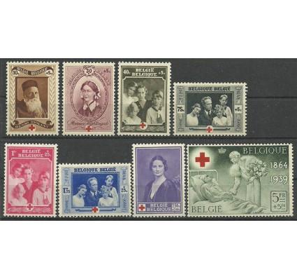Znaczek Belgia 1939 Mi 497-504 Z podlepką *