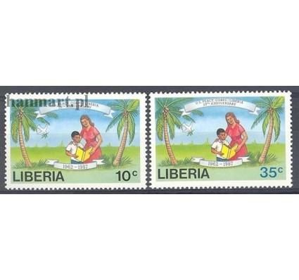 Liberia 1988 Mi 1406-1407 Czyste **