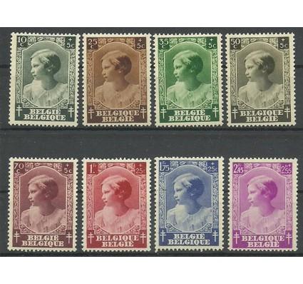 Znaczek Belgia 1937 Mi 457-464 Z podlepką *