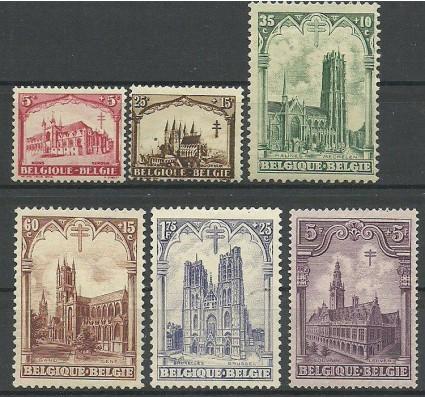 Znaczek Belgia 1928 Mi 244-249 Z podlepką *
