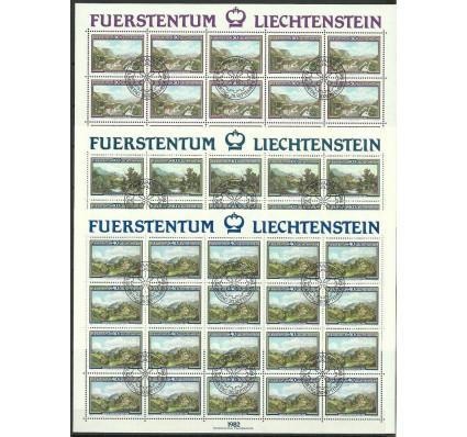 Znaczek Liechtenstein 1982 Mi ark 806-808 Stemplowane