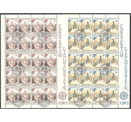 Znaczek Liechtenstein 1983 Mi ark 816-817 Stemplowane