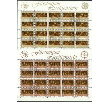 Znaczek Liechtenstein 1985 Mi ark 866-867 Stemplowane