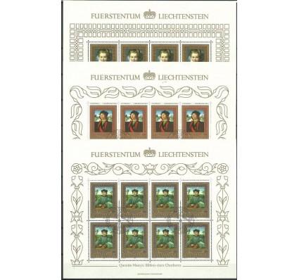 Znaczek Liechtenstein 1985 Mi ark 881-883 Stemplowane
