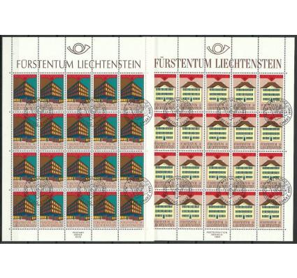 Znaczek Liechtenstein 1990 Mi ark 984-985 Stemplowane