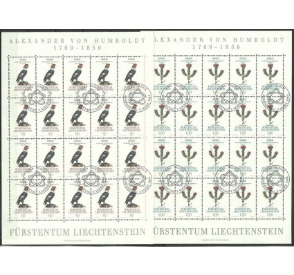 Znaczek Liechtenstein 1994 Mi ark 1079-1080 Stemplowane