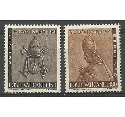 Znaczek Watykan 1966 Mi 500-501 Czyste **