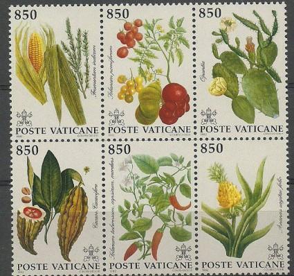 Znaczek Watykan 1992 Mi 1064-1069 Czyste **