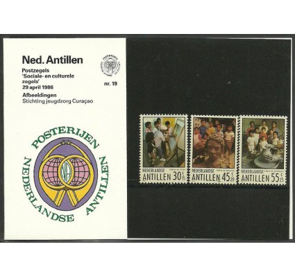 Znaczek Antyle Holenderskie 1986 Mi 586-588 Czyste **