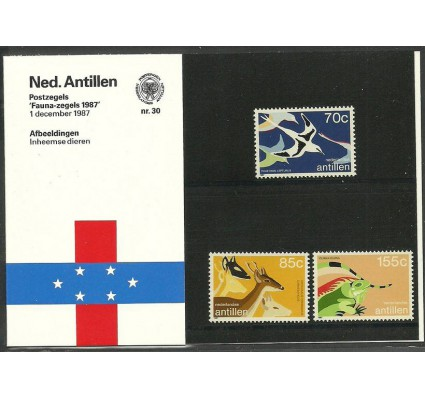Znaczek Antyle Holenderskie 1987 Mi 622-624 Czyste **