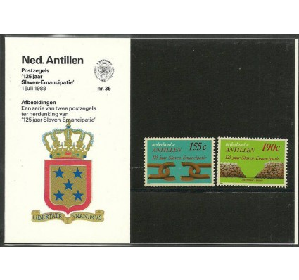 Znaczek Antyle Holenderskie 1988 Mi 638-639 Czyste **