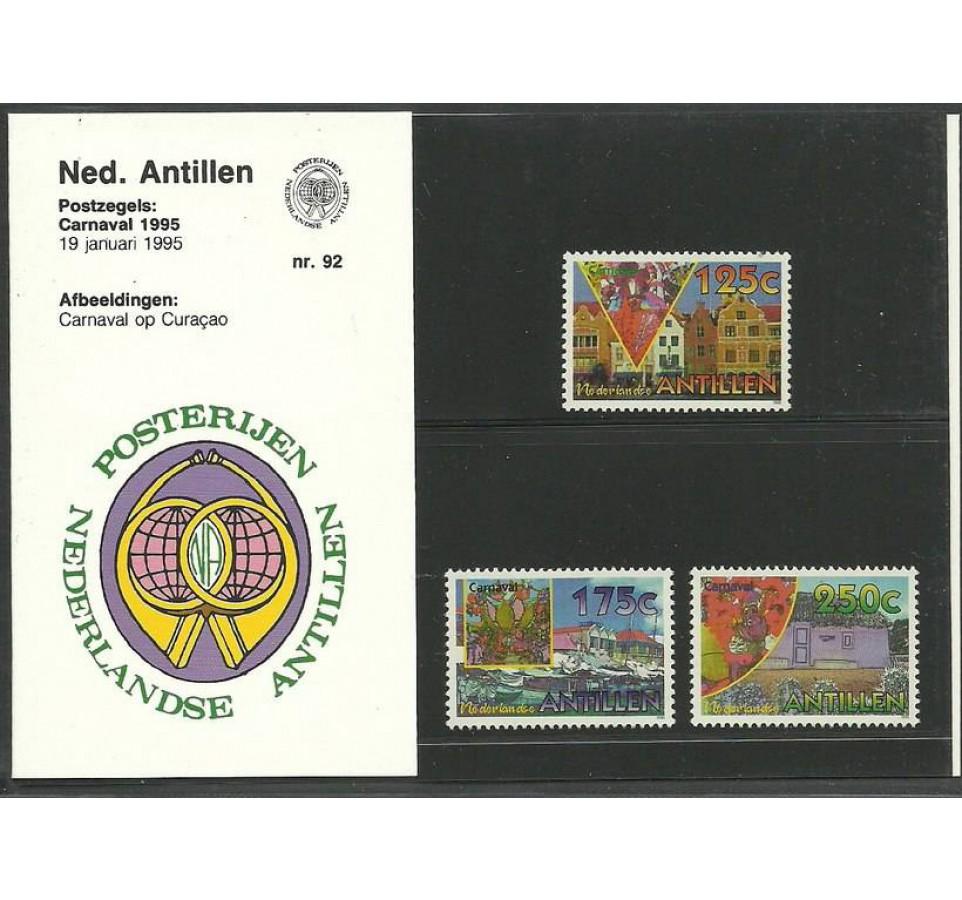 Antyle Holenderskie 1995 Mi 824-826 Czyste **