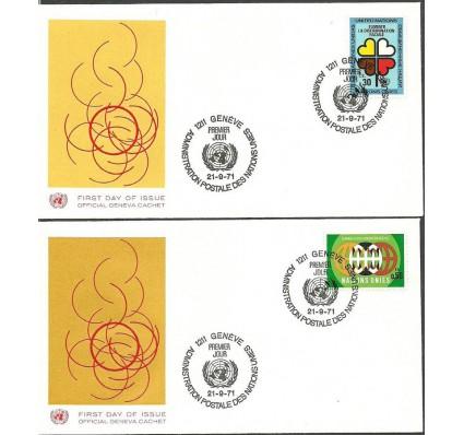 Znaczek Narody Zjednoczone Genewa 1971 Mi 19-20 FDC