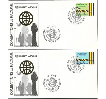 Znaczek Narody Zjednoczone Genewa 1977 Mi 68-69 FDC