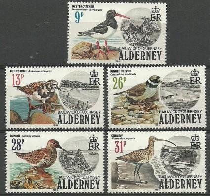 Znaczek Alderney 1984 Mi 13-17 Z podlepką *