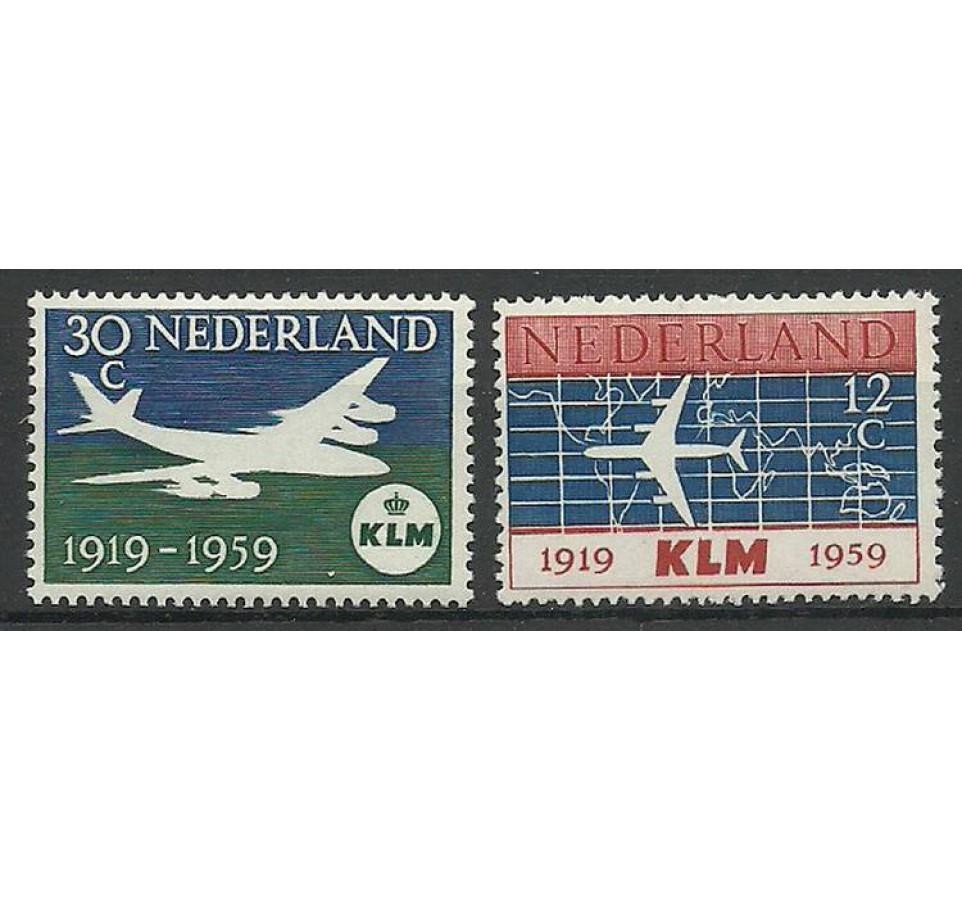 Holandia 1959 Mi 737-738 Czyste **