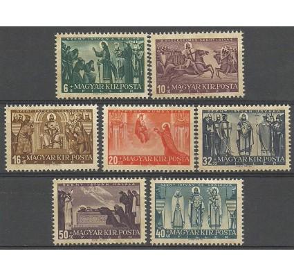 Znaczek Węgry 1938 Mi 576-582 Czyste **