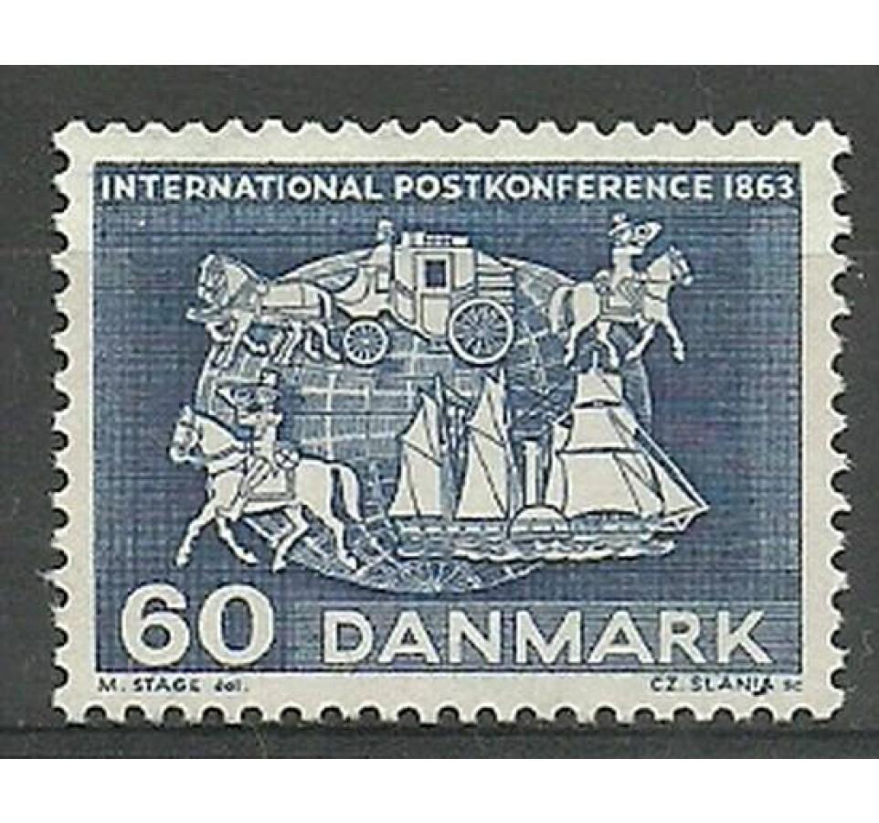 Dania 1963 Mi 414 Czyste **