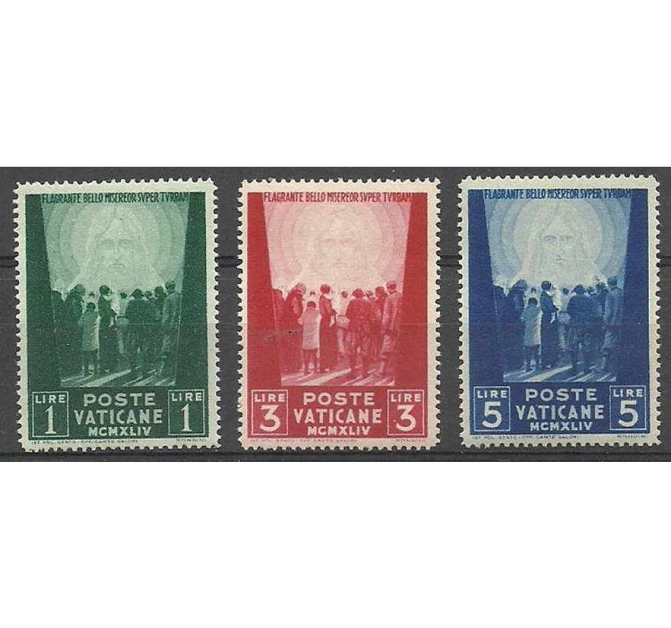 Watykan 1945 Mi 113-115 Czyste **