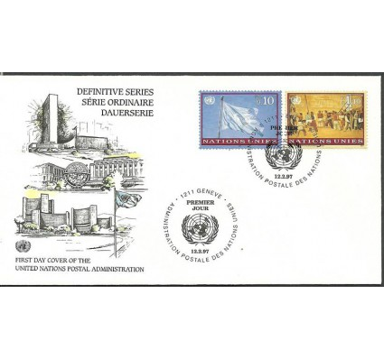 Znaczek Narody Zjednoczone Genewa 1997 Mi 303-304 FDC