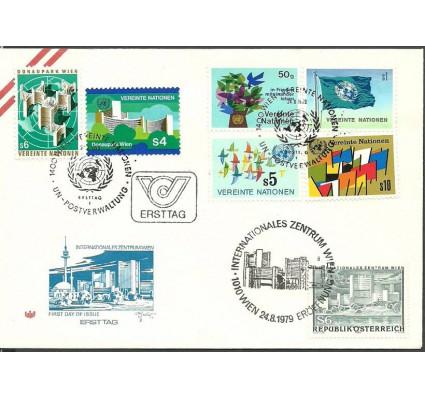 Znaczek Narody Zjednoczone Wiedeń 1979 Mi 1-6+AST1617 FDC