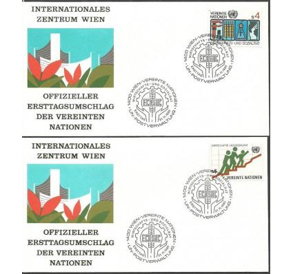 Znaczek Narody Zjednoczone Wiedeń 1980 Mi 14-15 FDC