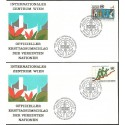 Narody Zjednoczone Wiedeń 1980 Mi 14-15 FDC