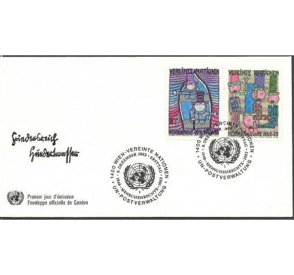 Znaczek Narody Zjednoczone Wiedeń 1983 Mi 36-37 FDC