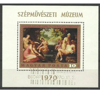 Znaczek Węgry 1970 Mi bl 76 Stemplowane