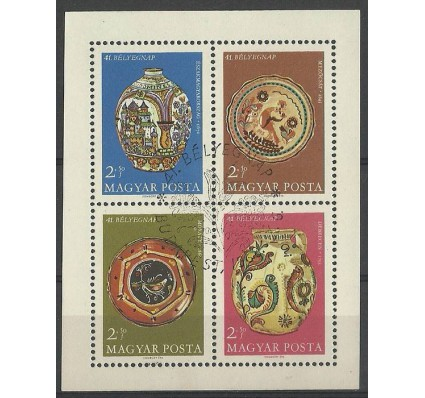 Znaczek Węgry 1968 Mi bl 66 Stemplowane