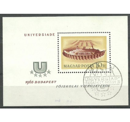 Znaczek Węgry 1965 Mi bl 50 Stemplowane