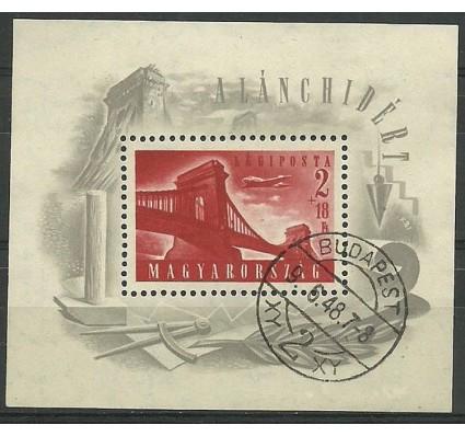 Znaczek Węgry 1948 Mi bl 12 Stemplowane