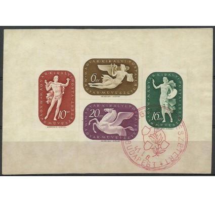Znaczek Węgry 1941 Mi bl 9 Stemplowane