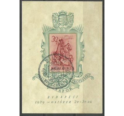Znaczek Węgry 1939 Mi bl 6 Stemplowane