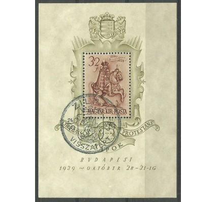 Znaczek Węgry 1939 Mi bl 5 Stemplowane