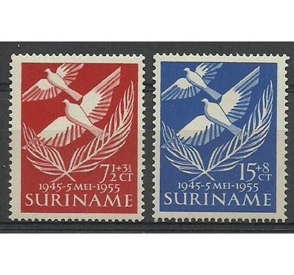 Znaczek Surinam 1955 Mi 352-353 Z podlepką *