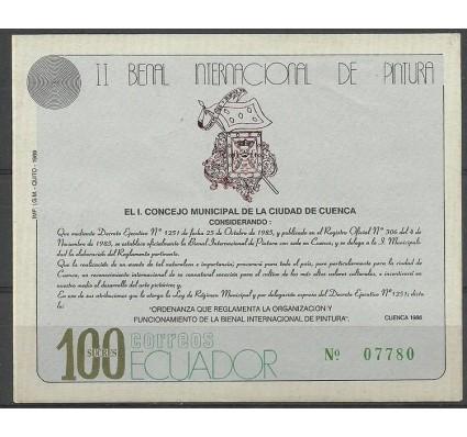 Znaczek Ekwador 1989 Mi bl 136 Czyste **