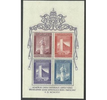 Znaczek Watykan 1958 Mi bl 2 Czyste **
