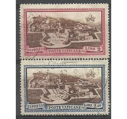 Znaczek Watykan 1933 Mi 37-38 Stemplowane