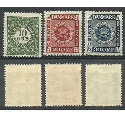 Znaczek Dania 1926 Mi 153-155 Z podlepką *