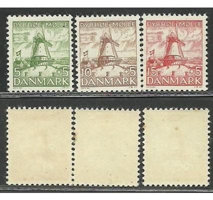 Znaczek Dania 1937 Mi 234-236 Z podlepką *
