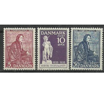 Znaczek Dania 1938 Mi 247-249 Z podlepką *