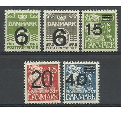 Znaczek Dania 1940 Mi 253-257 Z podlepką *