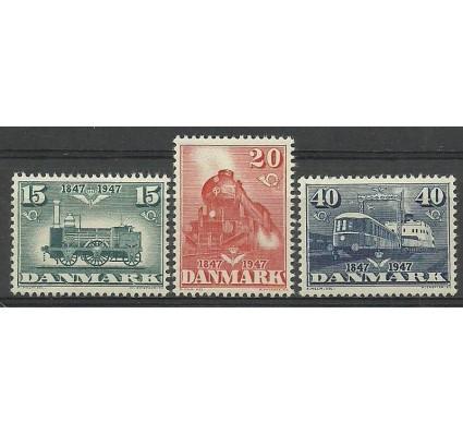 Znaczek Dania 1947 Mi 298-300 Z podlepką *